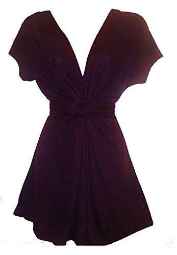 Holidaysuitcase Damen Sommerabend Lang Knoten Top, Plus Größe 12 bis 26 Violett