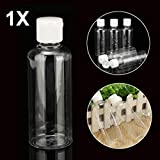 Yongse 100ml Clear Plastic Bottles for Travel Cosmetic Lotion Container with White Caps
