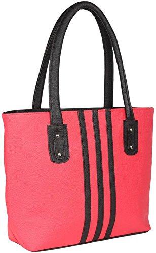 Typify 3-Strips Casual Shoulder Bag Women & Girl's Handbag (Pink)