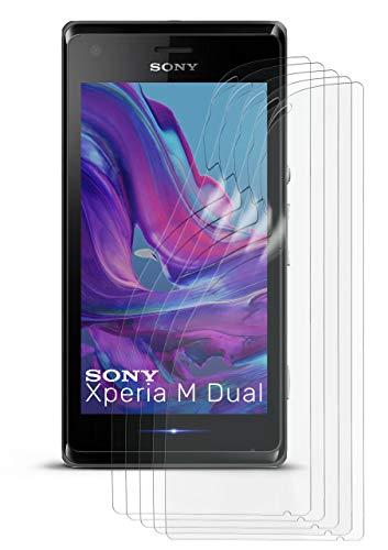 5X Sony Xperia M   Schutzfolie Matt Bildschirm Schutz [Anti-Reflex] Screen Protector Fingerprint Handy-Folie Matte Bildschirmschutz-Folie für Sony Xperia M/M Dual Bildschirmfolie