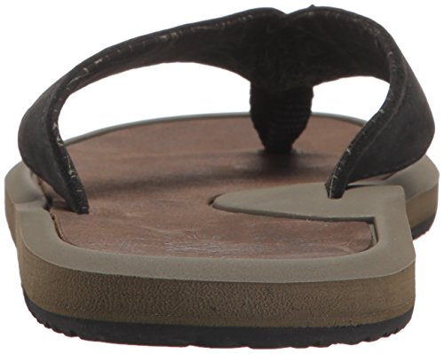 Reef Herren Machado Night Brown Zehentrenner oliv / braun