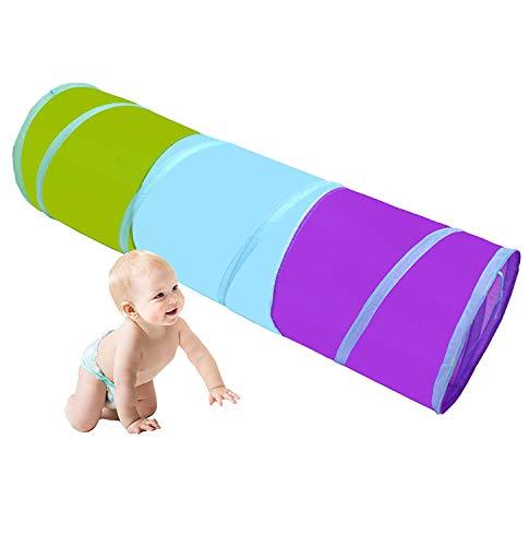 Fashion barra Kinder Spielzeug Spielen Tunnel Zelt 5ft Regenbogen Pop Up Tunnel Tube für Kinder Indoor-und Outdoor-Spiele Spielen