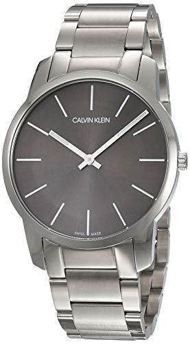 Calvin Klein Herren-Armbanduhr City Analog Quarz Edelstahl K2G21161 - Man Gekleidet Wie