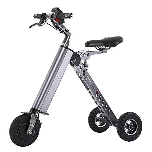 Wheel-hy Elektroroller Scooter, Mini Elektrofahrrad, Tricycle Foldable, 250W 36V 7.2Ah