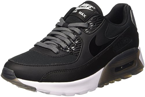 Nike Women's Air Max 90 Ultra Essential Shoe, Baskets Femme Noir (Black/Black/Dark Grey/Pure Platinum)