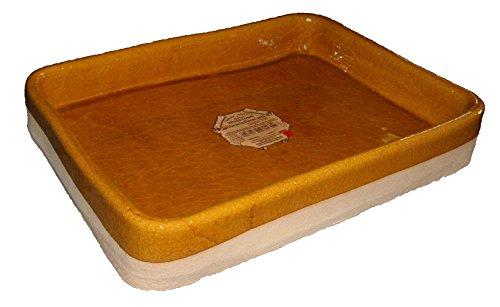 Alfarería Pereruela Siglo XVI APREC40 - Asador rectangular de barro refractario auténtico, 40 cm