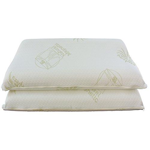 Baldiflex - , coppia di cuscini in memory foam, modello ortocervicale, fodera in aloe vera