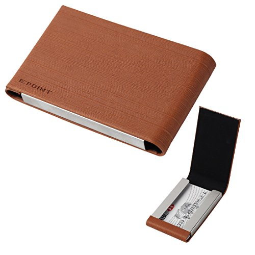 EDC03A05 Bronze Visitenkartenhalter f¨¹r M?nner Business-M?nner Kredit / ID Leder-Karte Fall mit Geschenk-Box Leder-Karte Fall mit Geschenk-Box von Epoint
