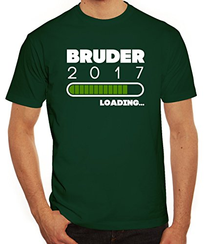 Geschenkidee Herren T-Shirt mit Bruder 2017 Loading... Motiv von ShirtStreet Dunkelgrün