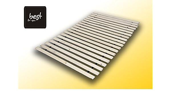 Soluzione ideale per tutti i materassi/ Best For You Roll Rete a doghe in legno massello /160/x 200/cm /in molte misure 60/x 120/cm/ 10,15/o 20/Listelli