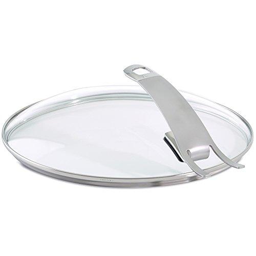 Fissler Pfannenzubehör Güteglasdeckel premium / Pfannen Glasdeckel hoch / Deckel Edelstahl-Rand / 28 cm Ø Bratpfanne / 185-000-28-200/0