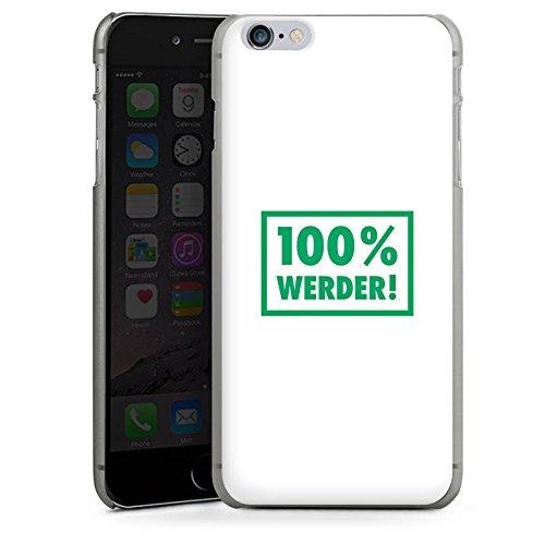 Apple iPhone X Silikon Hülle Case Schutzhülle SV Werder Bremen Fanartikel Bundesliga Hard Case anthrazit-klar