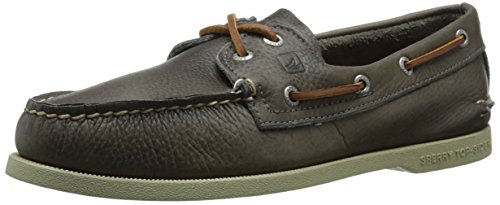 Sperry Top-Sider Men's A/O 2 Eye Tumbled Boat Shoe, Grey, 8 M US