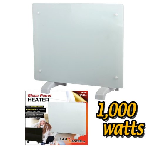 41cFCyfTHAL. SS500  - Electric Panel Heater Radiator Glass White Portable Free Standing Wall Mounted (1000w)