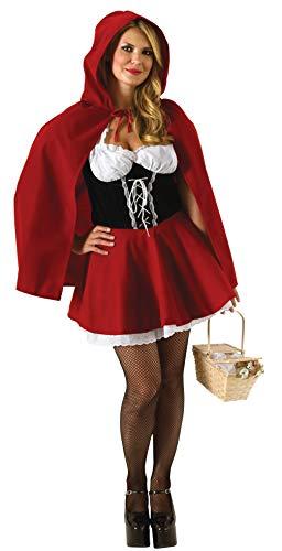 Rubie's Offizielles Ladie's Rotkäppchen-Kostüm für Erwachsene, Übergröße, - Übergröße Rotkäppchen Kostüm