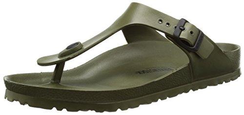 Birkenstock gizeh eva, sandali infradito unisex - adulto, verde (khaki), 42