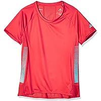 adidas 25/7 tee Runr Camiseta de Manga Corta, Mujer, Glory Red, L
