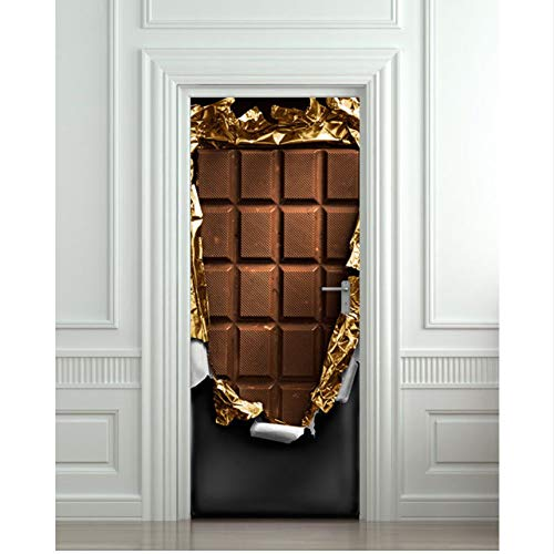 Innentüren Schokolade Kunst Bild 3D Wandbilder Wandaufkleber Tür Aufkleber Tapete Aufkleber Dekoration
