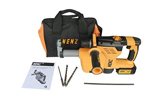 Preisvergleich Produktbild Nenz NZ8001A 600W Power Tool DC 20V 13/40,6cm SDS Plus Akkubohrhammer mit Staub Kollektion und One Akku Pack