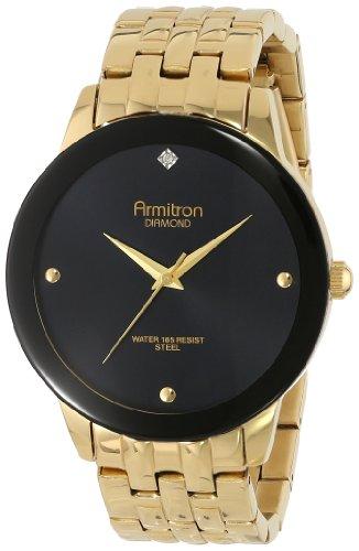 armitron-mens-20-4952bkgp-diamond-dial-wall-to-wall-crystal-gold-tone-bracelet-watch