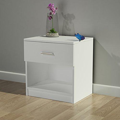 Fach-speicher Unit (shougui trade Nachttisch-Kabinette, modernes Ecktisch-Nachttisch-Schlafzimmer-Kabinett-Speicher-Schreibtisch-Regal mit Fach für Flur-Wohnzimmer, Weiß 45X35X46cm)