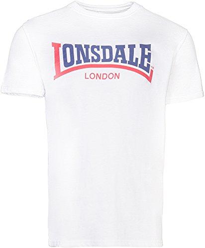 Lonsdale Men Regular Fit T-Shirt TWO TONE, Farbe:white, Größe:xxxl (2-ton-t-shirt)