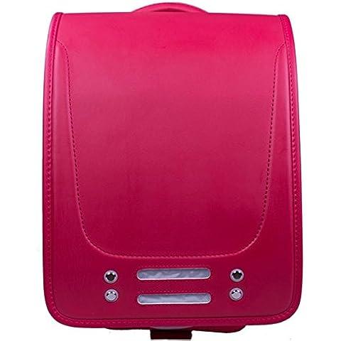 Impermeabile moda PU bambino casuale zaino / cartella 36L , big red