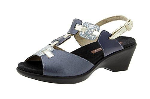 Scarpe donna comfort pelle Piesanto 6853 sandali soletta estraibile comfort larghezza speciale