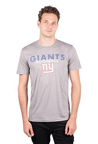 Riesen Xl T-shirt (Icer Marken NFL Herren T-Shirt Athletic Quick Dry Active Tee Shirt, Grau, Herren, JTM4686F, Grau meliert, X-Large)
