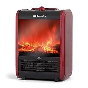 Orbegozo CM 9015 Chimenea Eléctrica, 1500 W, 2 Posiciones de Calor, Sistema Antivuelco, Protección contra…
