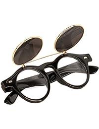 Gafas Sol Unisex,Xinantime Hombre Mujere Gafas Redondo Steampunk Flip Up Gafas De Sol
