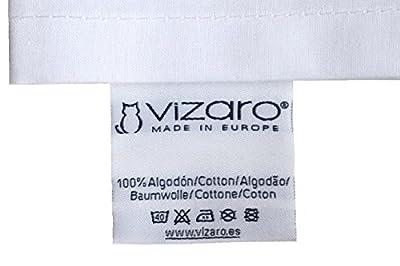 Vizaro - Relleno Nórdico 350 gr. MAXICUNA 70X140cm + Almohada, Transpirable, Lavable 40° - INVIERNO y Entretiempo, muy calentito - Hecho en EUROPA - Ext. 100% Algodón y Relleno Alta Calidad - PRODUCTO SEGURO para que lo Chupe un Bebé, Control de Susta