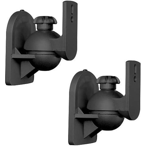 Brateck SB-2B - Soporte de pared/techo para altavoces, negro
