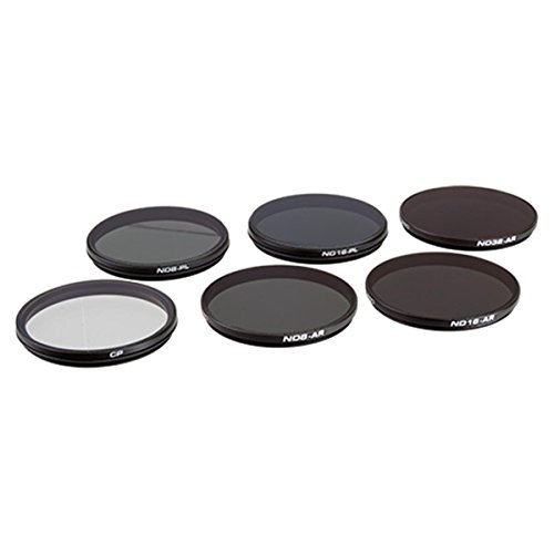 Polar Pro Filters P6002- Filtro de Juego de 6para cámaras DJI Zenmuse X7/X5S/X5
