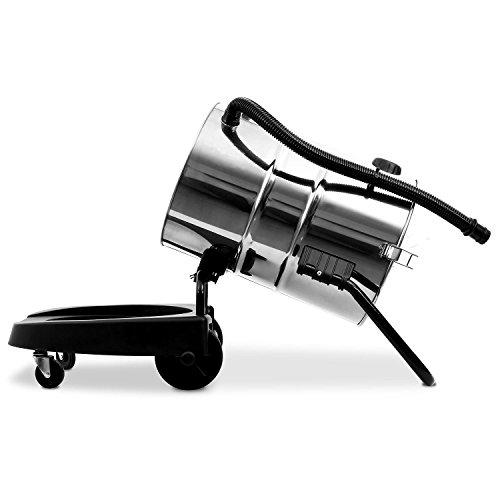 Klarstein IVC-50 • Industriesauger • Nasssauger • Trockensauger • 2000 W • IP X4-Schutz • Doppelradmotor • 50 Liter Edelstahl-Behälter • Schnellverschlüsse aus Metall • HEPA-Feinstofffilter • 70 cm Wasserablaufschlauch • umfangreiches Zubehör • silber-gelb - 9