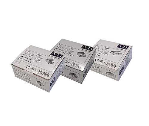 175 Serie (KOMBI: ViD Hebelklemme 2-pol + 3-pol + 5-pol 0,2-4mm² der UC Serie - ViD Hebelklemmen UC02 + UC03 + UC05 (175 Klemmen))