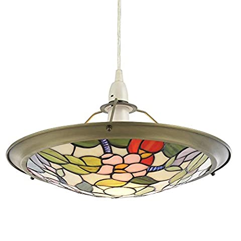 Tiffany Floral Easy to Fit Uplighter - Multi Coloured Litecraft