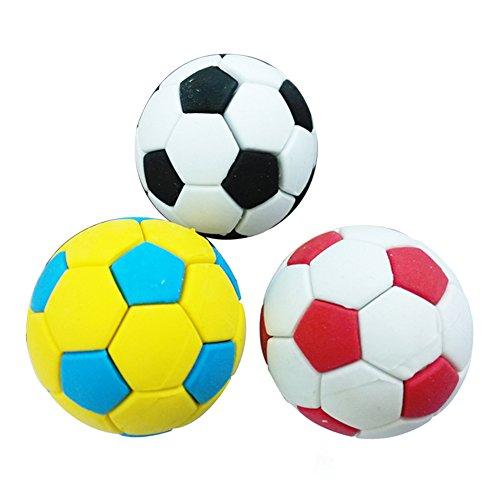 zhouba 3Fußball Fußball Gummi Radiergummi Stationery Schulbedarf Kreatives Geschenk Kinder...