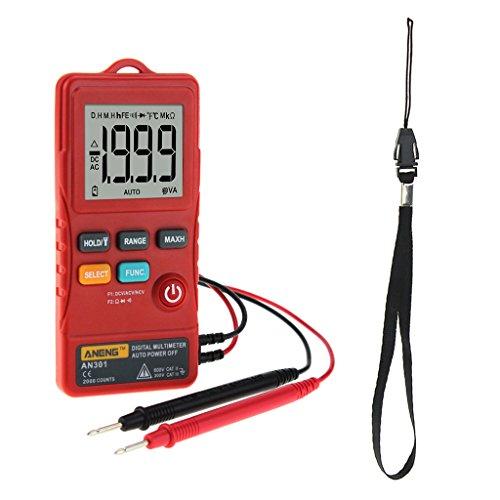 Baoblaze Digital-Multimeter AC/DC-Spannung Werkzeug für Prüfung, Wartung und Reparatur von Geräten - Rot