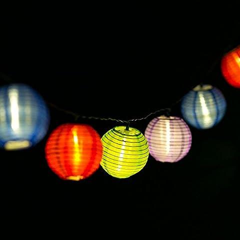 H&D Youngsun® 30er LED Solar Lichterkette Lampions Laterne 6,35 Meter Außen Innen Outdoor Garten Warmweiß Party Fest Deko Weihnachten Hochzeit Beleuchtung bunt