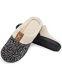welltree Hommes Chaussons Pantoufles Molles Mousse Mémoire Maison Pantoufles Chaussures Chaudes d'hiver Pantoufles D'intérieur Antidérapage Léger