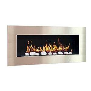 Ethanol & Gel Fuel Fireplace Fireside Model XXL Design + free 24 decorative stones