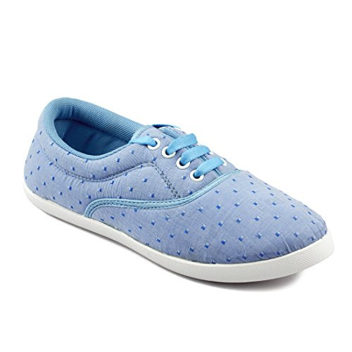 Asian shoes Amy-26 Blue Women Canvas Shoes