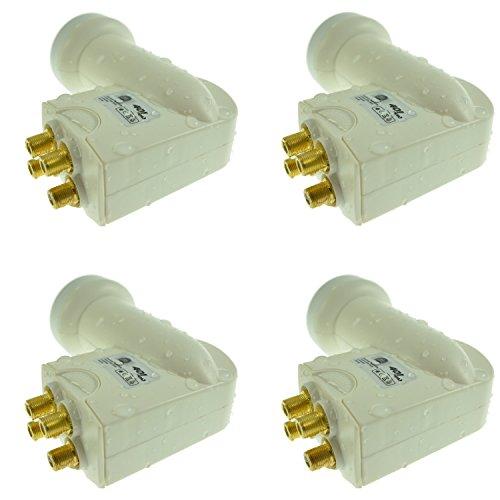 4 x Na-Digital 401 - hochwertiges Wetterschutz inkl. für alle Satellitenanlagen Quad LNB Digital Full HD 4 Teilnehmer