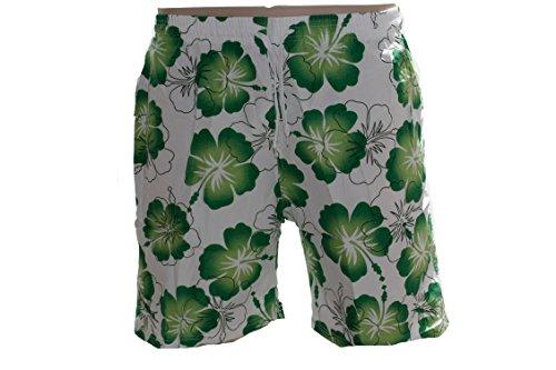Badehose Badeshort Hawaii Bermuda Badeshorts A015 Grün