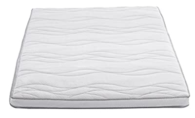AmazonBasics Memory Foam Quilted Mattress Topper with Medicott(TM) Fabric