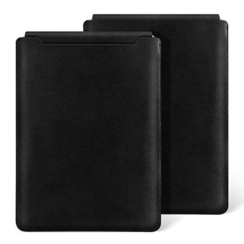 Ayotu Macbook Air 13 Zoll Laptop Hülle Wasserdicht Mikrofaser Leder für Macbook Air 13(A1369/A1466) / Pro 13 Retina 13.3 Zoll (A1425/A1502) Notebooktasche Schutzhülle Case Leather Sleeve Hülle,Schwarz