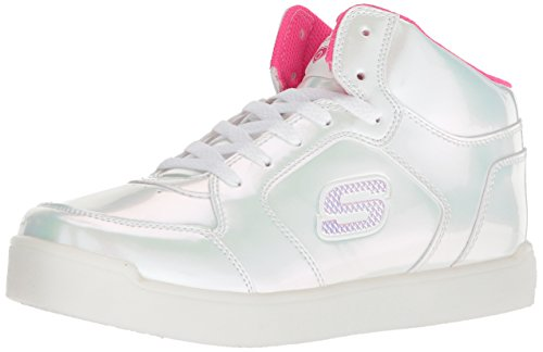 Skechers Mädchen Energy Lights: E-pro Pearl Princess Hohe Sneaker,Pink (White/Hot Pink Whp), 31 EU