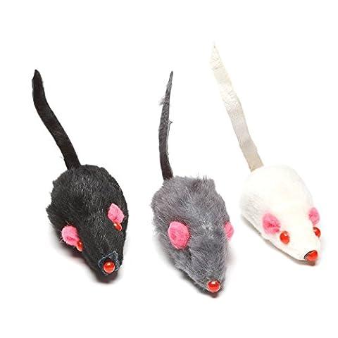 Jouets pour chats: 9 souris fourrure pour chats | Lot