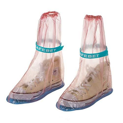 Ducomi® Piove - Copristivale Unisex Impermeabile Antipioggia con Suola Antiscivolo (L, Pink)